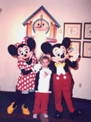 David at Give Kids the World with Mickey & Minnie